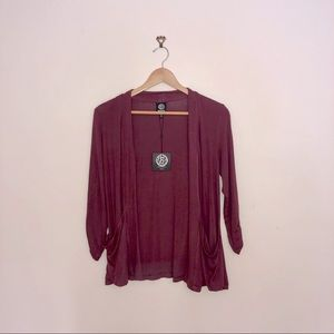 NWT red/maroon cardigan sweater